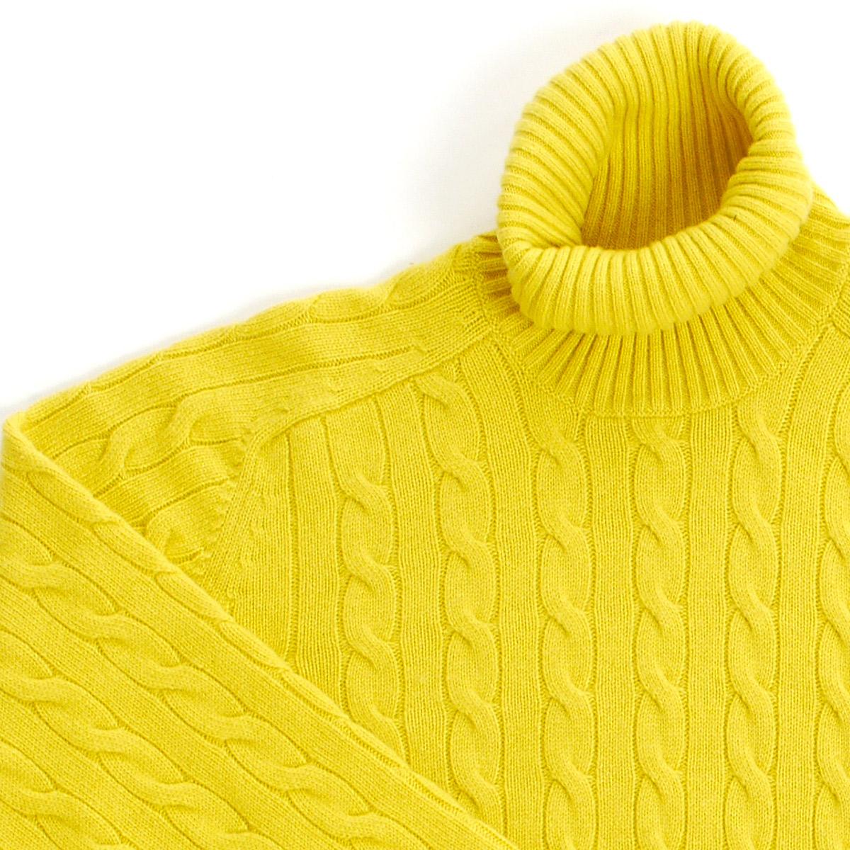 Maglia Sir Wilson – dolcevita cashmere – giallo – dettaglio