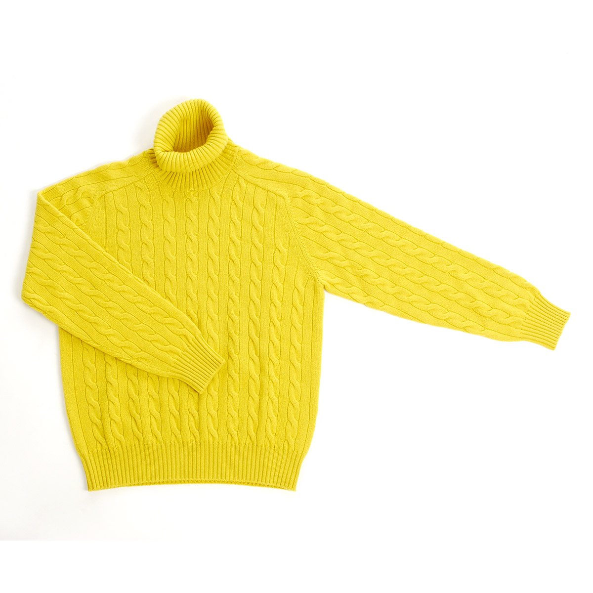 Maglia Sir Wilson – dolcevita cashmere – giallo
